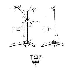 1897 SEELY Design Bicycle Stand STEARNS Patent #50317
