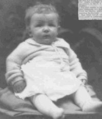 George Gordon Seeley as a baby