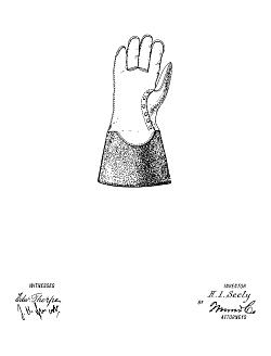 1921 SEELY Glove Ornamental Design Patent #43612