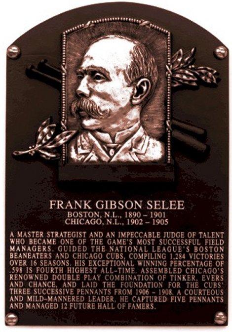 Frank Gibson Selee plaque