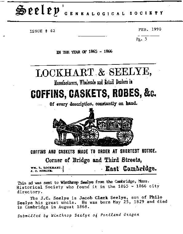 Lockhart & Seelye - Coffins, Caskets, Robes