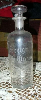 Seely's May Queen Glass Bottle