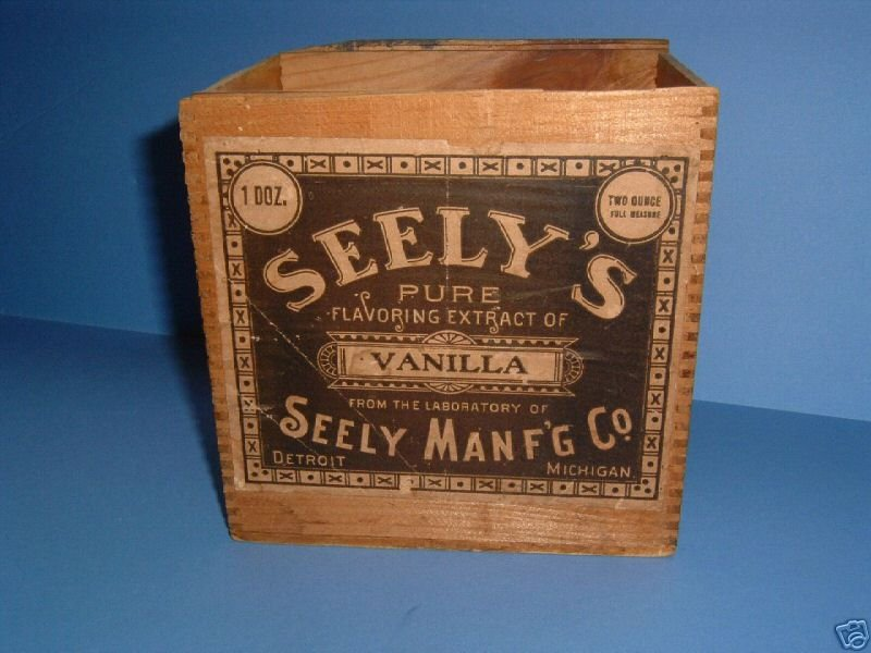 Vanilla Extract - SEELY Manufacturing Company - front of box