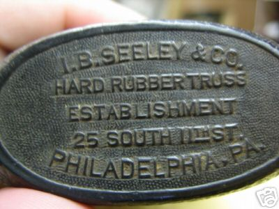 Whiskey Hard Rubber Flask IB Seeley & Co.