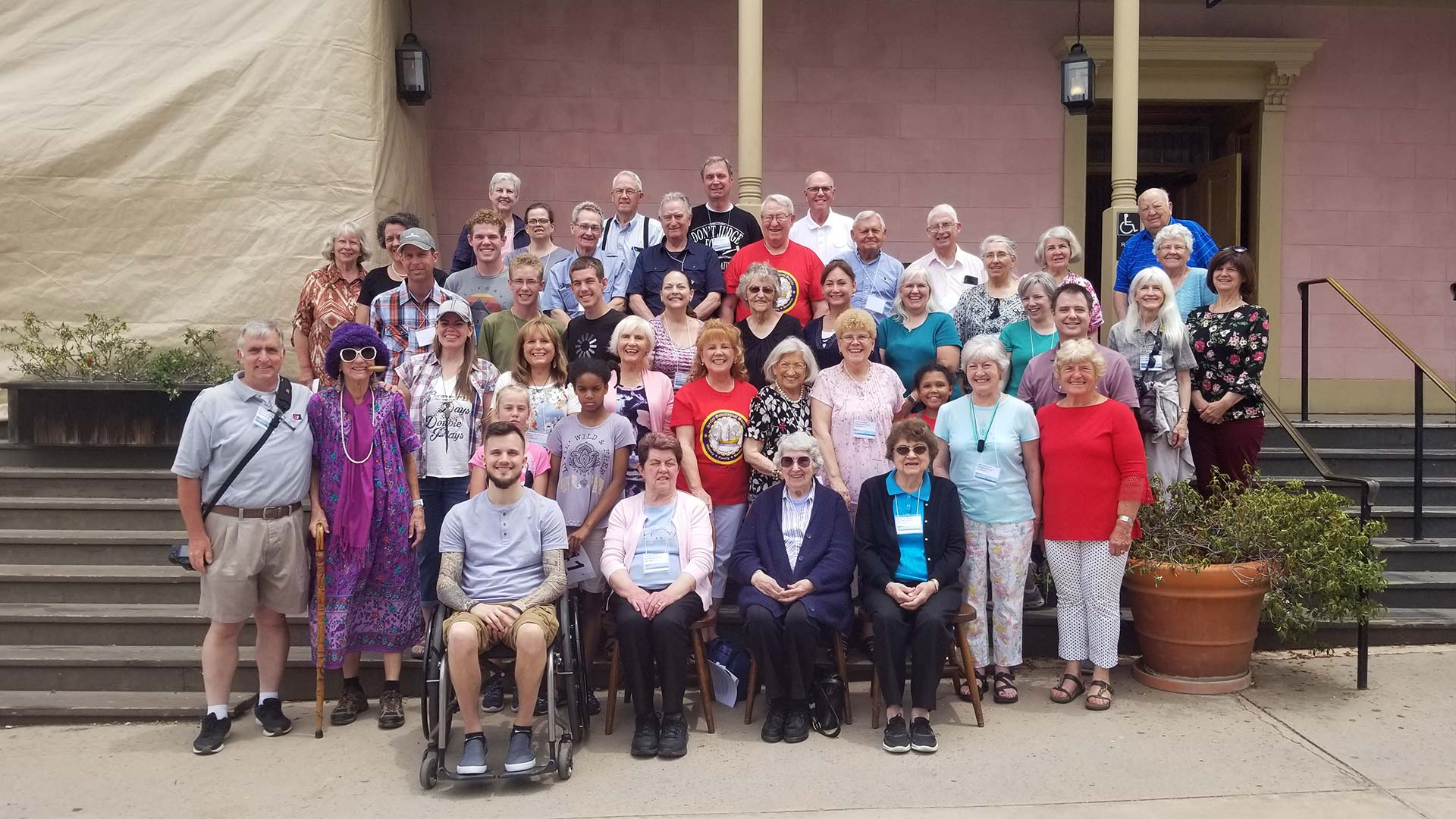 Seeley Genealogical Society members at the 2019 reunion in San Diego, CA